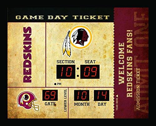 Team Sports America Bluetooth Scoreboard Wall Clock Washington Redskins, Team Color, 23