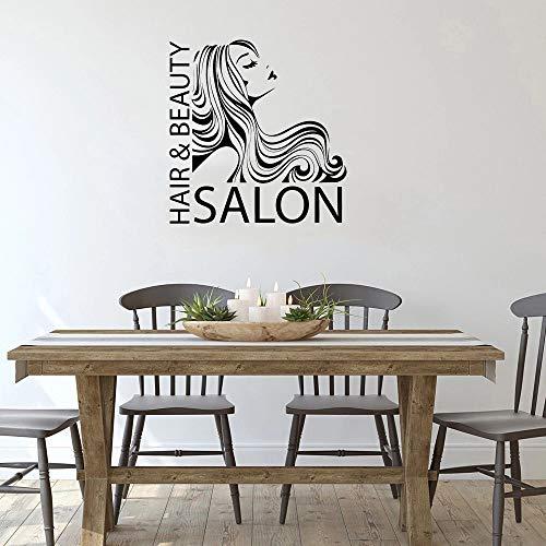 Peluquería y salón de belleza Peluquería Peluquería Peluquería Vinilo de pared Barbería Arte Logotipo de automóvil Patrón Foto
