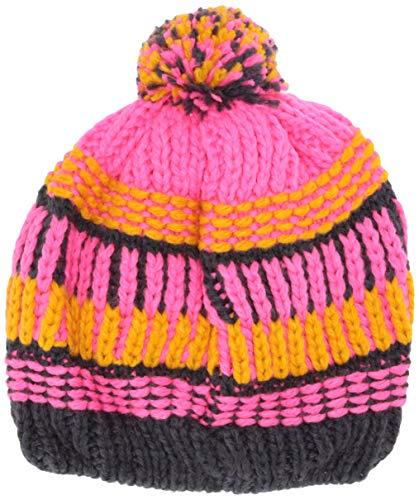 Lego Wear Mädchen Lego Mädchen LWALFRED 717 - Strickmütze mit Bommel Mütze,per Pack Rosa (Dark Pink 474),56 (Herstellergröße:56)