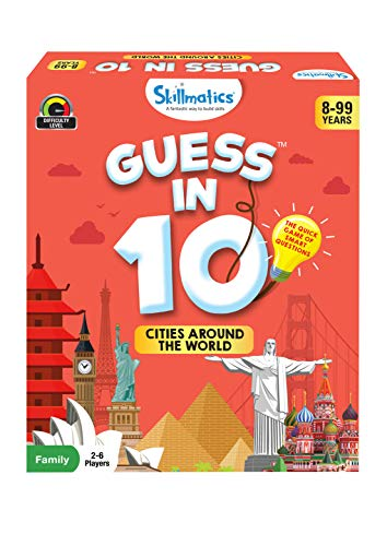 Skillmatics Educational Game : Cities Around The World - Guess in 10 (Ages 8-99)