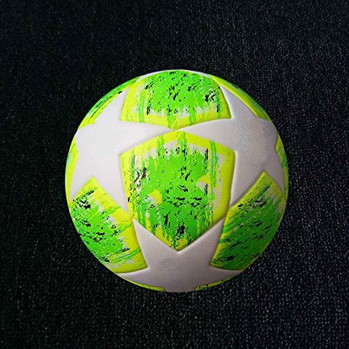 chunhe Fußball No. 5 Ball Nr. 4 Bälle für Erwachsene, Standard-Training, Wettkampf, rutschfeste Partikel, hochelastische Haut, Grün