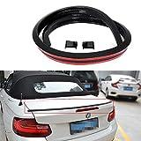 AMFULL Universal Black Car Trunk Spoiler Lip Kit Carbon Fiber Fits for Most Cars Rear Spoiler Exterior Rear Spoiler Kit