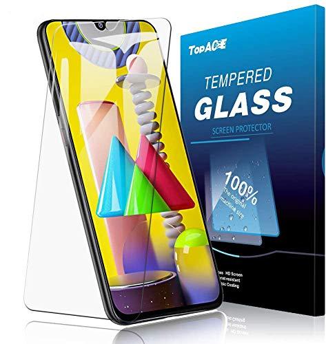 TOPACE 2 Stück Panzerglas Schutzfolie für Samsung Galaxy M31 / A30s/A50, [Einfacher Montage] Ultra Dünn 9H Härte Ultra-HD Blasenfrei Anti-Kratzer Anti-Öl Gehärtetes Glas Displayschutzfolie