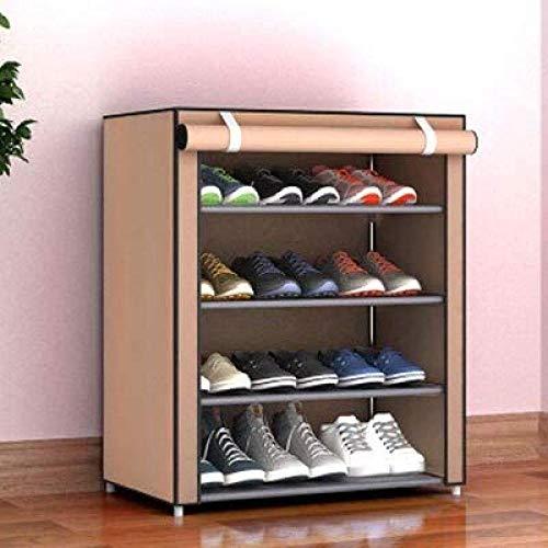 HTGW Estante de Zapatos Plegable DIY Multicapa Conocido Almacenamiento a Prueba de Polvo Armario de Zapatos Dormitorio Pequeño Zapatero Zapatos de Tela Organizar el gabinete