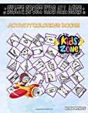 Skate Sport Kids All Ages: 45 Coloring Skateboard, Nut, Medals, Screw, Wrench, Ice Skate, Wheels, Wrench For Kid Ages 4-8 Image Quizzes Words Activity And Coloring Books