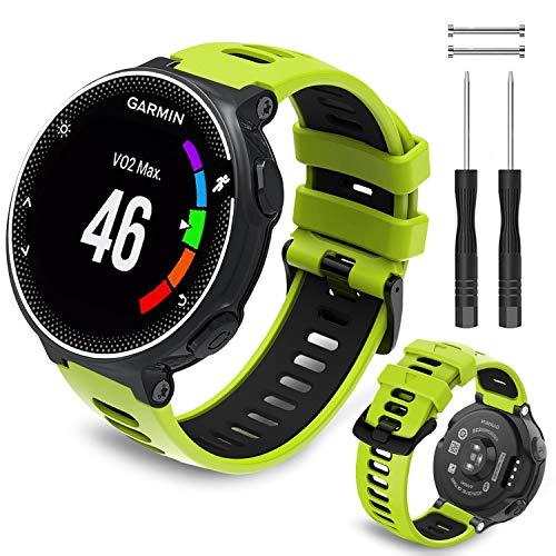 Th-some Correa para Garmin Forerunner 735XT - Compatible con Forerunner 235 Correa de Reloj, Pulsera de Reemplazo Silicona Suave Sports Banda para Forerunner 220, 230, 620, 630 y 241 Smart Watch