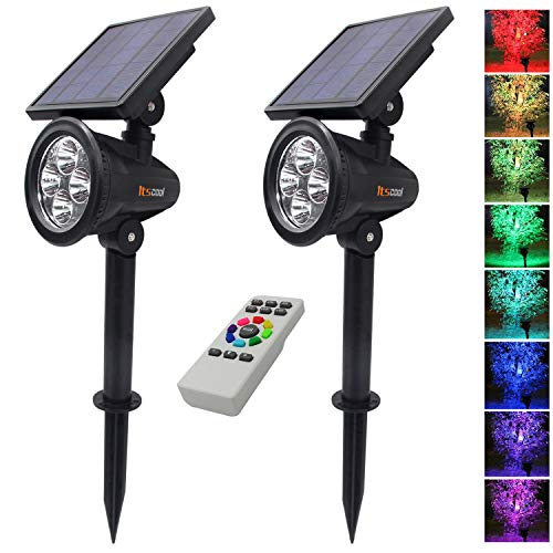 Itscool Solar Spotlights Outdoor Colored...