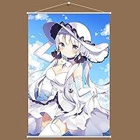 KANASAKURA アズールレーン イラストリアス 同人 寝室 壁掛け 掛け画 タペストリー ポスター おたくプレゼント(60cm X 90cm)
