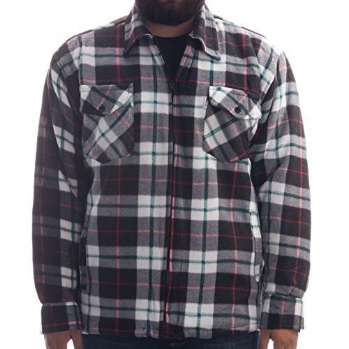 Hoog thermohemd - werkjas met teddybont in tijdloze ruiten, houten valjack overhemd