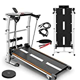 Debonla Walking Treadmill,Folding Mechanical Treadmill Shock Running Supine T-wisting Draw Rope 4-in-1 Home Indoor Sports Home Gym Workout Fitness Running Machine MAX 440LB(Shippment from USA)