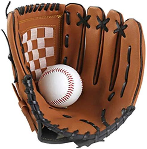 GCDN 1pc Baseball Handschuhe, Baseball Handschuhe Pitcher, PU Leder Linke Hand Baseball Training Übungen Handschuhe für Außen Sports Mann Damen Kinder Teenage - Wie Bild Show, 11.5 inch