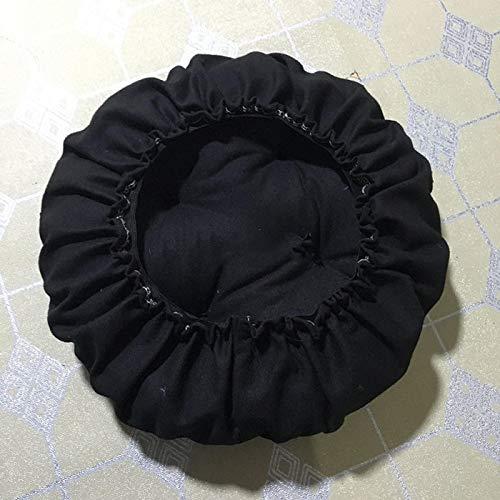 GGoty Runder Hocker Bezug Stretch Stuhl Sitzkissen Dicke Sitzkissen Schonbezüge für runde Hocker Stuhl, 15, 50*50cm