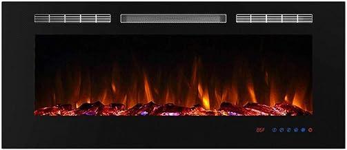 Chimenea Electrica Pared Led Efecto Llama Calefactor Tipo Estufa De Pie Instalación Pared Rendimiento De 750 O 1500 W No Deja Residuos Ni Olores