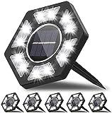 6Pcs Luces de Tierra Solares, Salandens 12 LED Lampara Solar Jardin...