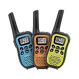 Uniden UH45-3 - UHF CB Handheld Radio (Walkie-Talkie) with Kid Zone – Triple