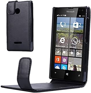 Mobile Phone Cases & Covers, Vertical Flip Magnetic Snap Leather Case for Microsoft Lumia 435