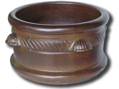 K&K Pflanzkübel Adiamus 50x30cm Farbe: BRAUN-MATT, aus frostbeständiger Steinzeug-Keramik