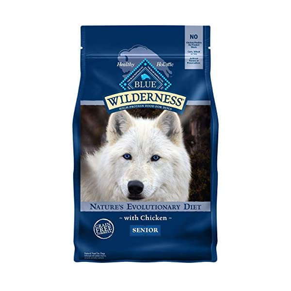 Blue Buffalo Wilderness High Protein, Natural Senior Dry Dog Food, Chicken