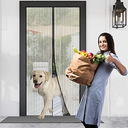 Zanzariera Magnetica per Porta Chiusura Automatica Tenda Zanzariera a Strisce Anti Zanzare Insetti per Porte Finestre Balcone Soggiorno (120 * 220cm)
