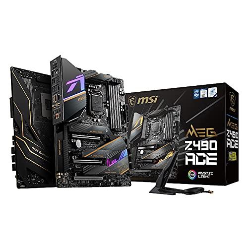 MSI MEG Z490 ACE Scheda Madre Gaming (ATX, 10 Gen Intel Core, LGA 1200 Socket, SLI/CF, Triple M.2 Slots, USB 3.2 Gen 2, Wi-Fi 6, Mystic Light RGB)