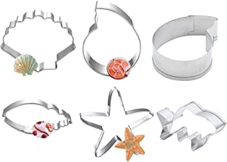 ZHOUBA 6 moldes de Estrella de mar para Tartas, Galletas, cortadores de Galletas,