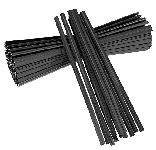 Unves 500 Pcs 5' Plastic Black Twist Ties Cable Ties Reusable Bread Ties for Party Cello Candy Bags Cake Pops