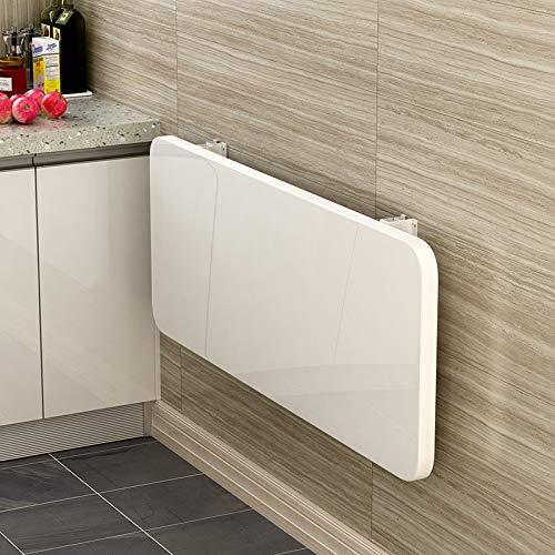 Warooma Wandklapptisch/schwimmender Wandklapptisch, geeignet für Arbeitszimmer, Schlafzimmer, Bad, Balkon, Esszimmer usw. weiß