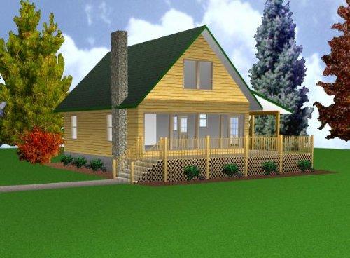 24x32 Cabin w/Loft Plans Package, Blueprints & Material List