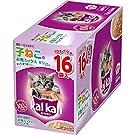 カルカン パウチ 12ヵ月までの子ねこ用 キャットフード お魚ミックス まぐろとかつお 70g×16袋 (まとめ買い)
