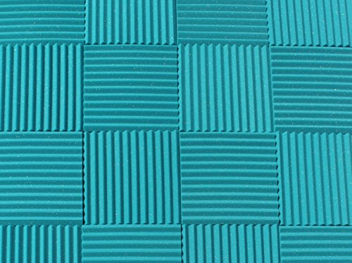 Soundproofing Acoustic Studio Foam - Teal Color - Wedge Style Panels 12