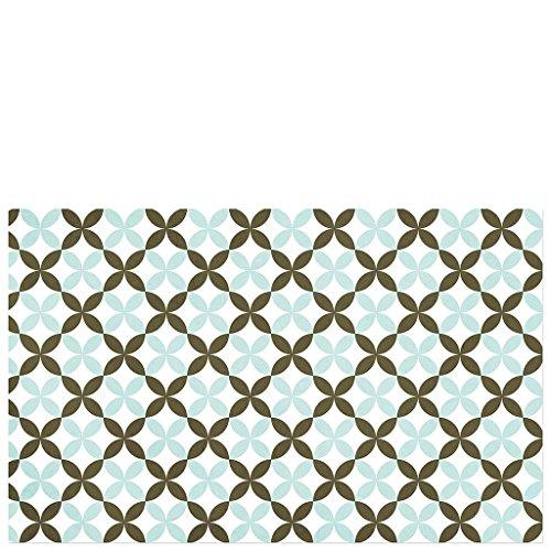 Laroom Alfombra, Vinylic Flooring PVC-Antislip, Verde, Marrón