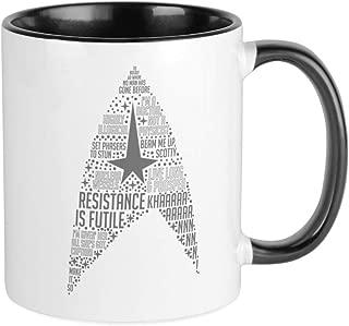 CafePress Star Trek Quotes Insignia Unique Coffee Mug, Coffee Cup