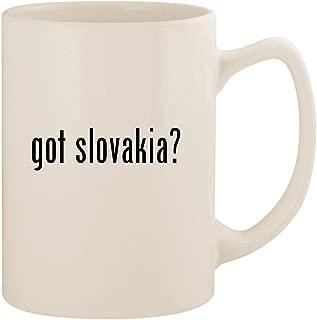 got slovakia? - White 14oz Ceramic Statesman Coffee Mug Cup