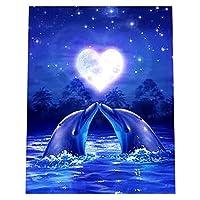 ダイヤモンド絵画セット ダイヤ クロスステッチ ラインストーン 装飾 イルカ 全10タイプ - 10#