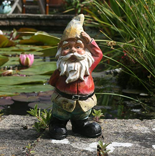 Traditonal Quizzical Gnome Garden decoration, garden gnome