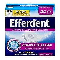 Efferdent Anti-Bacterial Denture Cleanser 40-Count (並行輸入品)