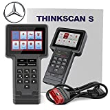 ThinkScan Mercedes OBD2 Scanner All System Diagnostic Tool Professional Auto Scan Tool Multilingual Car Automotive Code Reader ECU Oil SAS DPF EPB ETS Reset for Benz, Lifetime Free Update