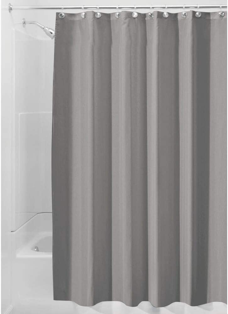 for Shower and Bathtub mDesign Extra Wide Water Repellent Weighted Bottom Hem Chocolate Brown Mildew Resistant Liner 108 x 72 2 Pack Heavy Duty Flat Weave Fabric Shower Curtain