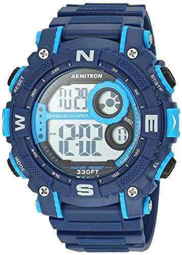Armitron Sport Men's Quartz Sport Watch with Resin Strap, Blue, 22 (Model: 40/8284BNV)