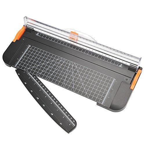 ATPWONZ Papierschneider A4 Schneidegerät tragbare Papierschneidemaschine Guillotine mit automatischem Sicherheitsschutz, Passend für Papier, Fotos und Etiketten (Schwarz