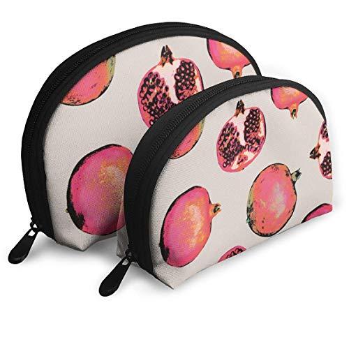 Frucht Magenta Organismus Rosa Pflanze Frauen Shell Form Geldbörse Reise Aufbewahrungstasche Organizer Tasche Geschenk 2St