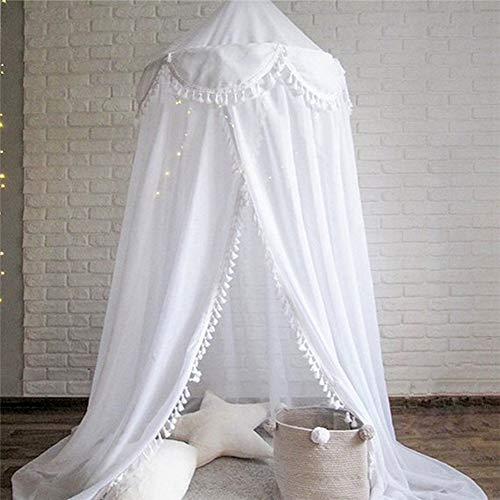 YXZN Dome Bettvorhang, Bed Canopy Garn Spielzelt Bettwäsche Für Kinder Spielen Runde Spitze Dome Netting Vorhänge Baby Jungen Und Mädchen