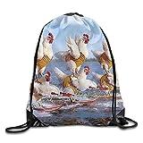 Etryrt Mochilas/Bolsas de Gimnasia,Bolsas de Cuerdas, Funny Alpaca Lover Basic Drawstring Backpack Gym Sackpack for Men & Women School Travel Bag