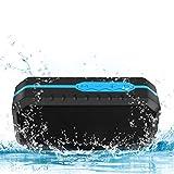 Ifecco Tragbarer Wasserdichter Bluetooth Lautsprecher Speaker Boombox mit 1800mAh Batterie für...