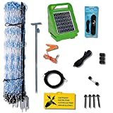 Starkline Standard Electric Poultry Netting Kit (Solar Energizer) (11/42/3) Electric Chicken Fence Kit for Backyards, Homesteads, and on Farms and Ranches