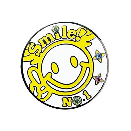 WINWIN STYLE(ウィンウィンスタイル) メガマーカー SMILE No.1 SMILE No.1 MM-310 ユニセックス MM-310 イエロー デザイン:型打ち製法(七宝仕上げ)/クリスタルストーン入り