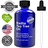 Radha Beauty Tea Tree Essential Oil 4 oz. - 100% Pure & Natural Premium Melaleuca Therapeutic Grade...