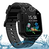 LDB Direct Kids Smart Watches for Boys Girls, Waterproof GPS/LBS Tracker Smart Watch Gift Birthday Christmas for 3-12 Year Old Kids with SOS Call Two-Way Call Voice Chat Game Flashlight (Black)
