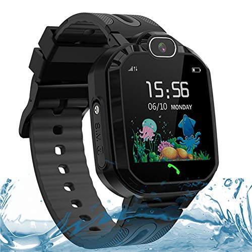 LDB Direct Kids Smart Watches for Boys Girls, Waterproof GPS Tracker Smart Watch Gift Birthday Christmas for 3-12 Year Old Kids with SOS Call Two-Way Call Voice Chat Game Flashlight (Black)