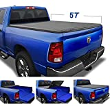 Tyger Auto T3 Soft Tri-Fold Truck Bed Tonneau Cover Compatible with 2009-2018 Dodge Ram 1500 | 2019-2021 Classic Only | Fleetside 5'7' Bed (67') | without RamBox | TG-BC3D1015 , Black